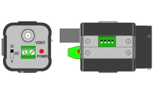 Схема подключения видеокамеры VC34BSHRX-12.