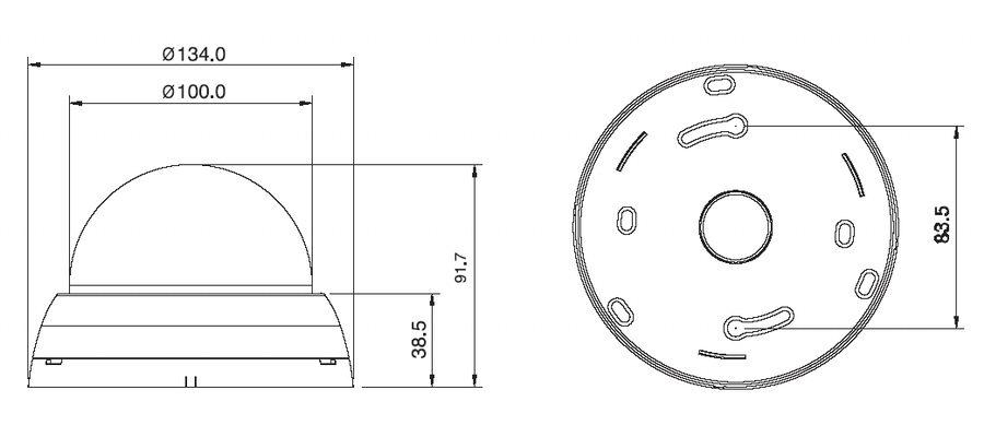 Размеры видеокамеры VD101H-VFA