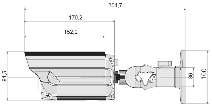 Размеры видеокамеры VN70IIH-